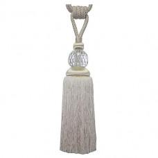 Glass Monroe Tieback Ivory Linen Glass Monroe Tieback Ivory (Tie Back)